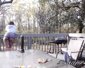 GoldieL PoV Pussy Play On The Porch