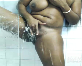 Squirting in the shower Ebonyfantasi